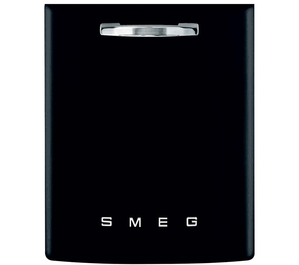 Image of Smeg DI6FABNE2 Full-size Semi-integrated Dishwasher - Black, Black