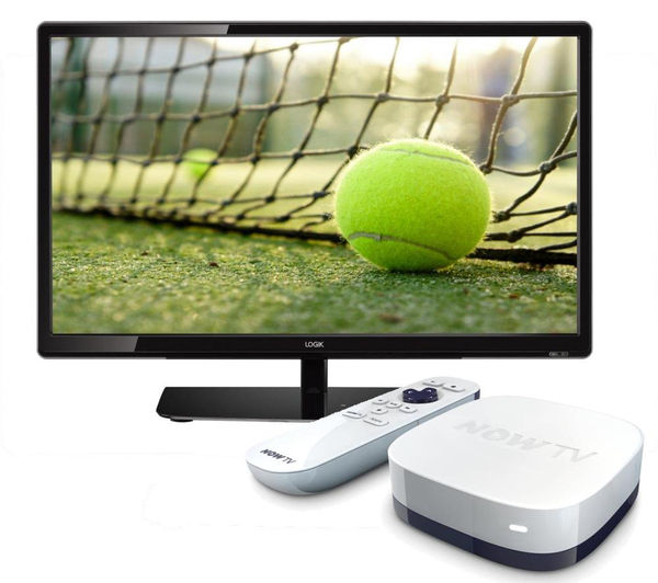 "Image of 22"" Logik L22FE14 LED TV with NOW TV HD Smart TV Box - Sports Bundle"