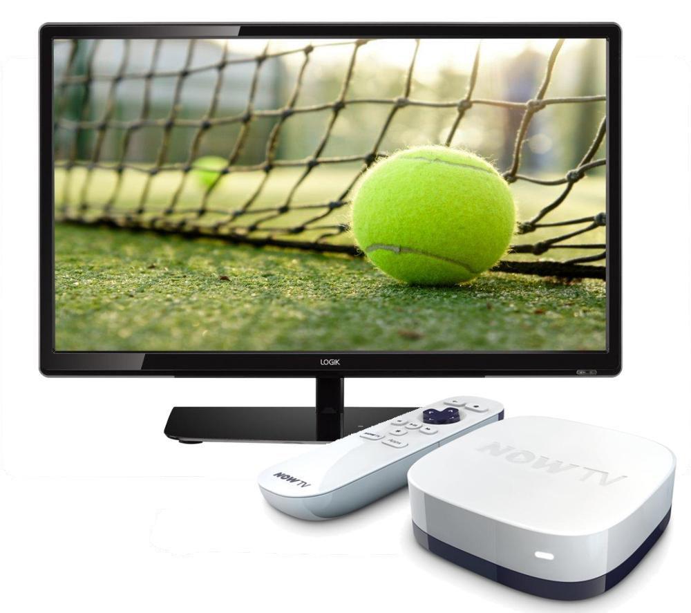 "Image of 22"" Logik L22FE14 LED TV with NOW TV HD Smart TV Box - Sports BundleLogik L22FE14"