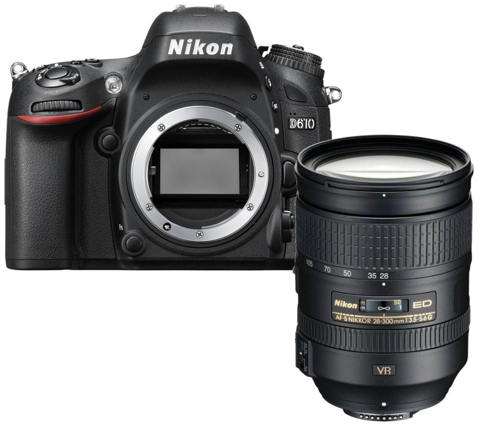 NIKON D610 DSLR Camera with 28-300 mm f/3.5-5.6 Lens - Black