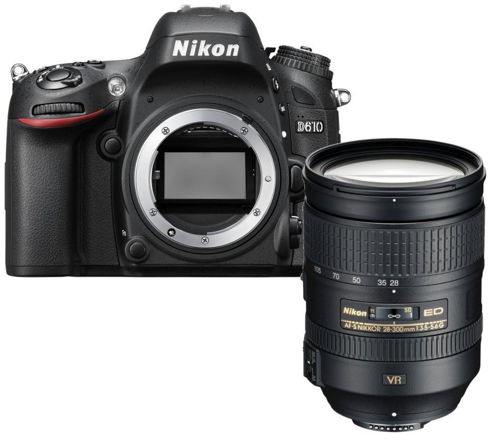 NIKON D610 DSLR Camera & AF-S Nikkor 28-300 mm f/3.5 - 5.6 SWM ED VR II IF Telephoto Zoom Lens