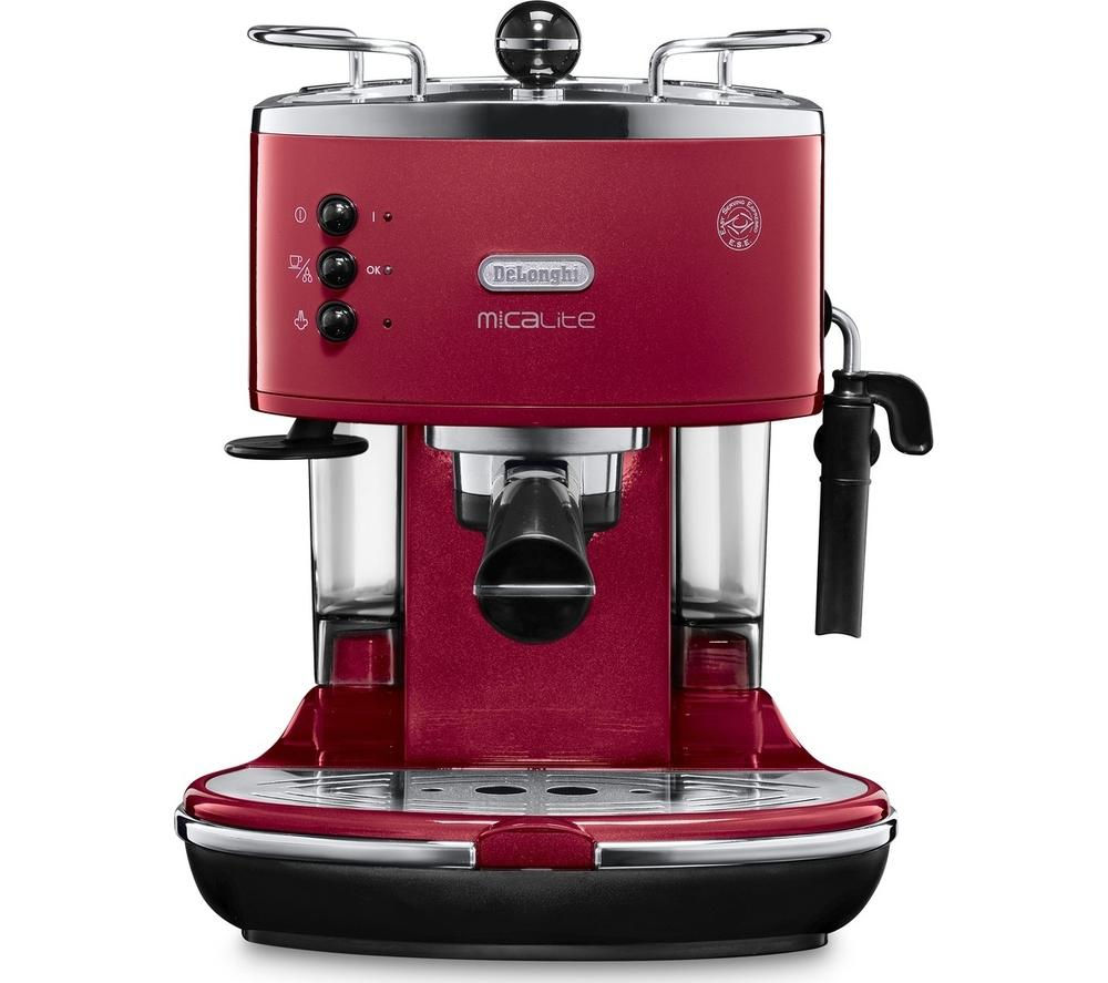 buy delonghi icona micalite ecom 311 r coffee machine red free delivery currys. Black Bedroom Furniture Sets. Home Design Ideas