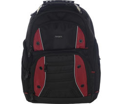 "TARGUS Drifter 16"" Laptop Backpack - Black & Red"