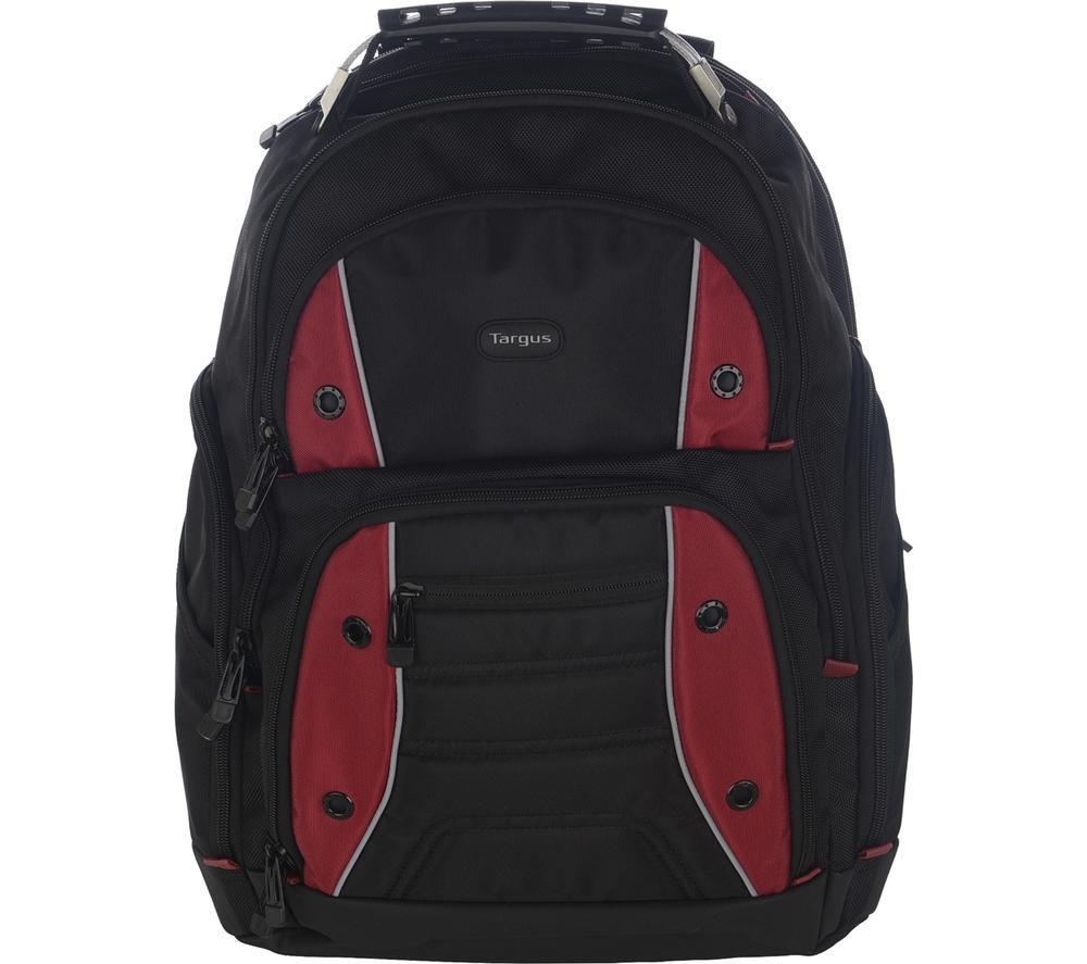 """TARGUS Drifter 16"""" Laptop Backpack - Black & Red"""