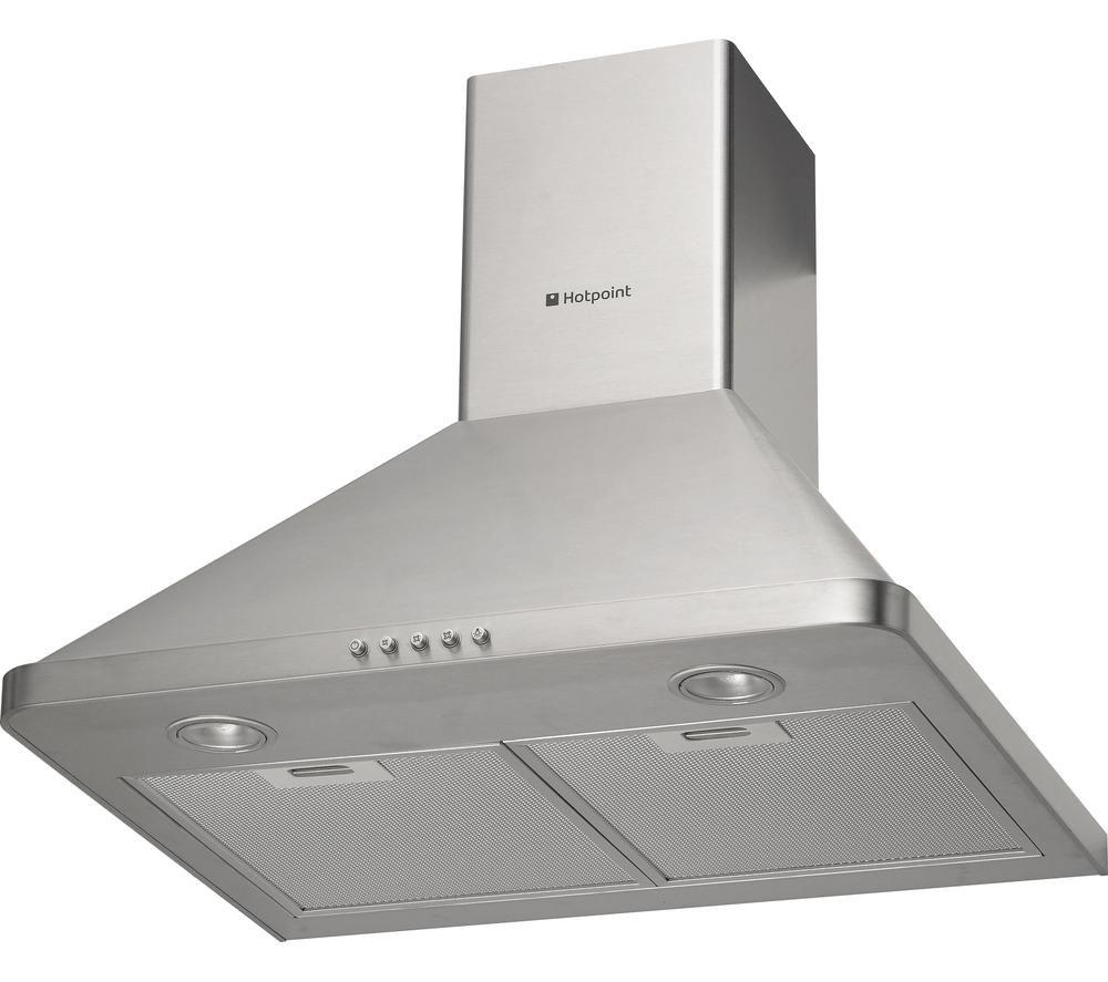 hotpoint hhp65cm chimney cooker hood stainless steel. Black Bedroom Furniture Sets. Home Design Ideas