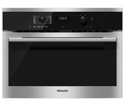 MIELE H6100BM Built-in Combination Microwave - Clean Steel