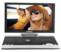 SYLVANIA SDVD1256 Portable DVD Player - Black & White