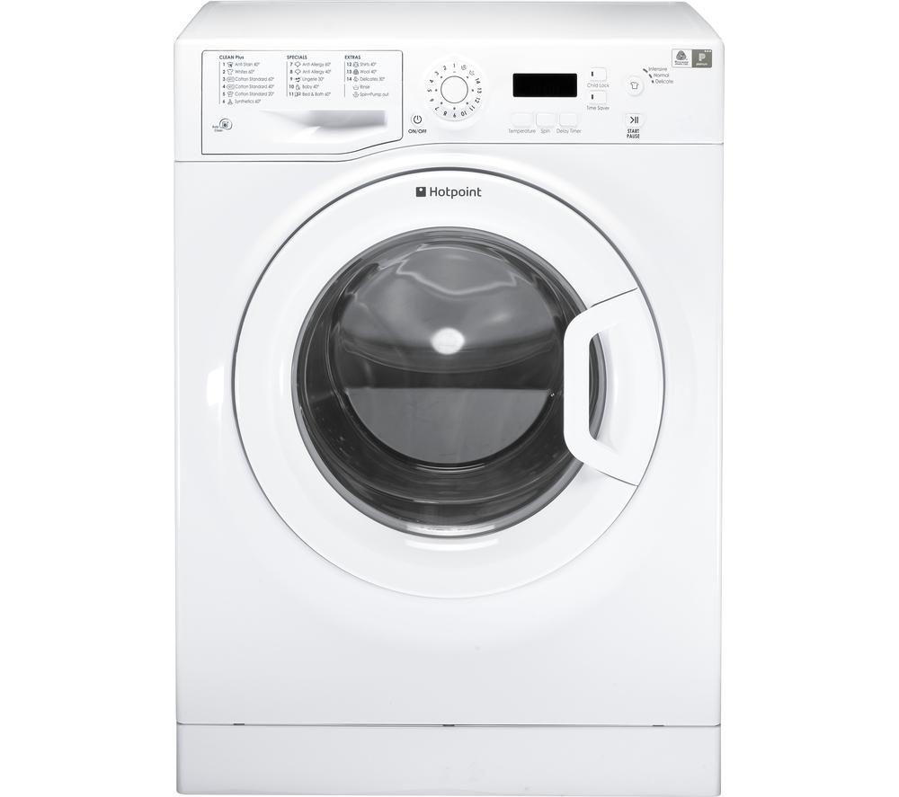 Image of Hotpoint Aquarius WMAQF641P Washing Machine - White, White