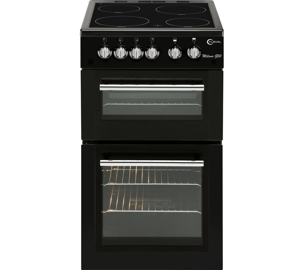 buy flavel mlb5cdk 50 cm electric ceramic cooker black free delivery currys. Black Bedroom Furniture Sets. Home Design Ideas
