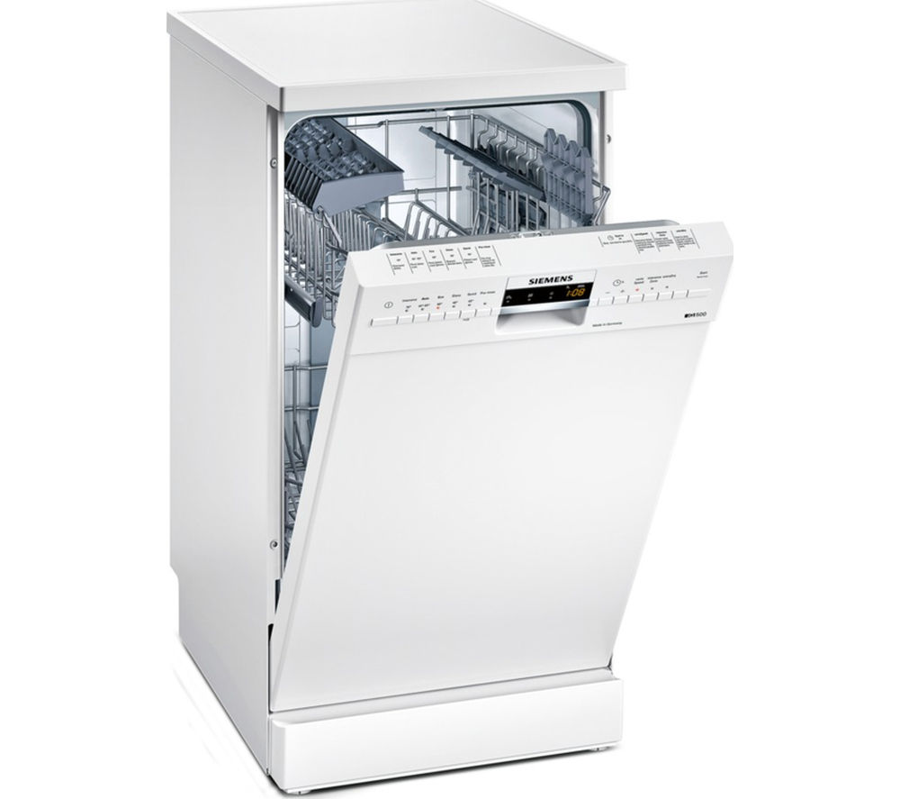 Image of Siemens SR26M231GB Slimline Dishwasher - White, White