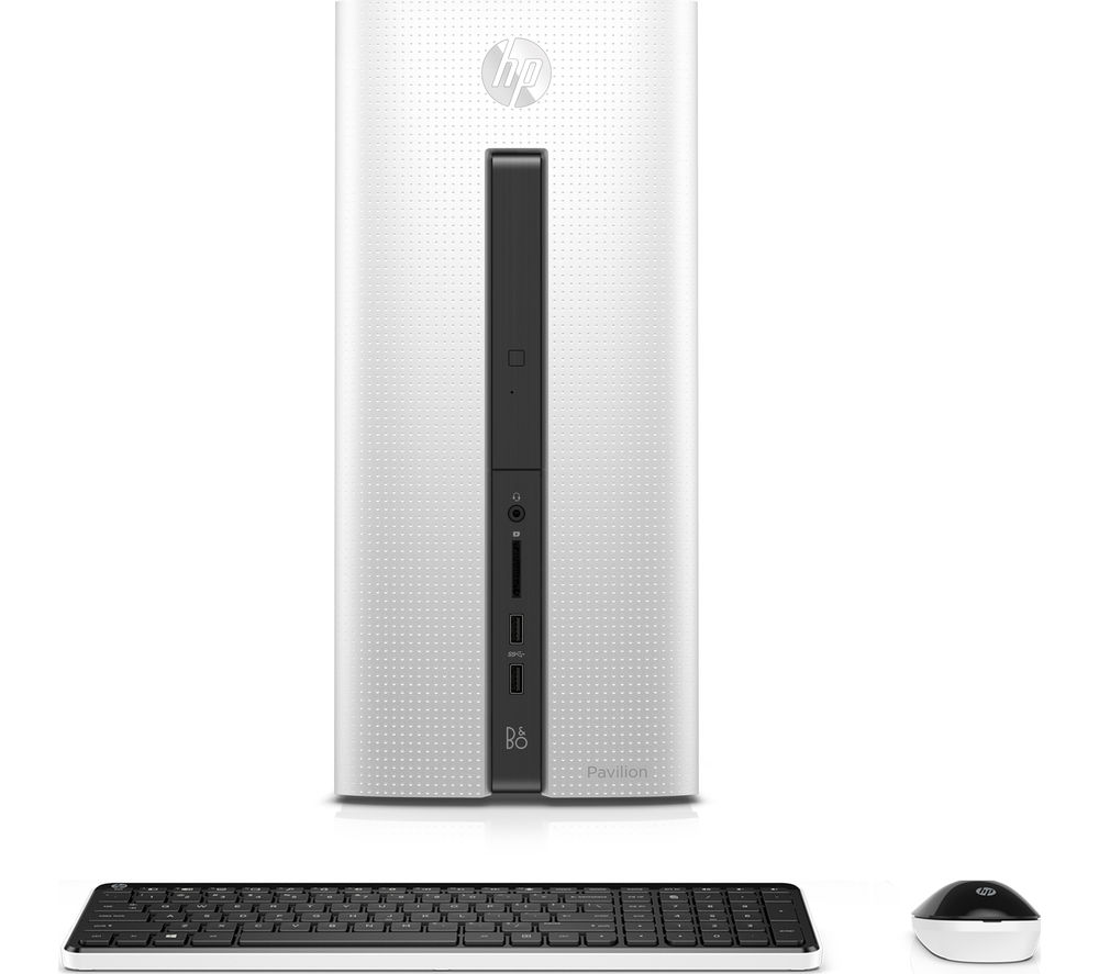 HP Pavilion 550-253na Desktop PC with Intel Core i5-6400/ 8GB/ 2TB/ Win 10 - Blizzard White