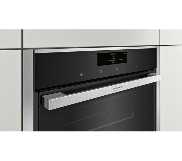 buy neff b58ct68n0b slide hide electric oven stainless steel free delivery currys. Black Bedroom Furniture Sets. Home Design Ideas