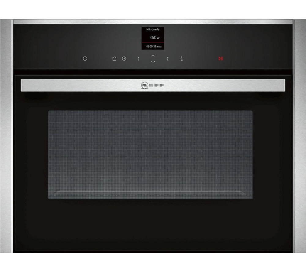 Image of NEFF C17UR02N0B Built-in Solo Microwave - Stainless Steel, Stainless Steel