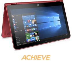 "HP Pavilion x360 15-bk062sa 15.6"" 2 in 1 - Red"
