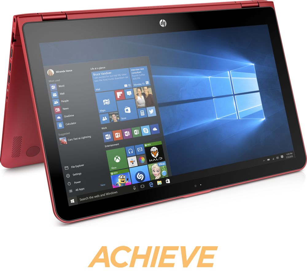 HP Pavilion x360 15bk062sa 15.6 2 in 1  Red Red