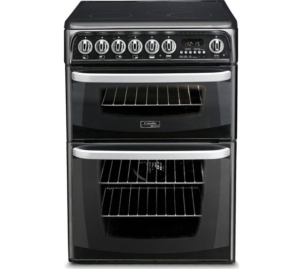 Image of HOTPOINT CH60EKK 60 cm Electric Ceramic Cooker - Black, Black