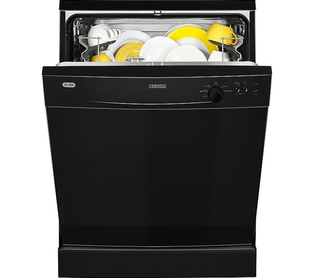 ZANUSSI  ZDF21001NA Fullsize Dishwasher  Black Black