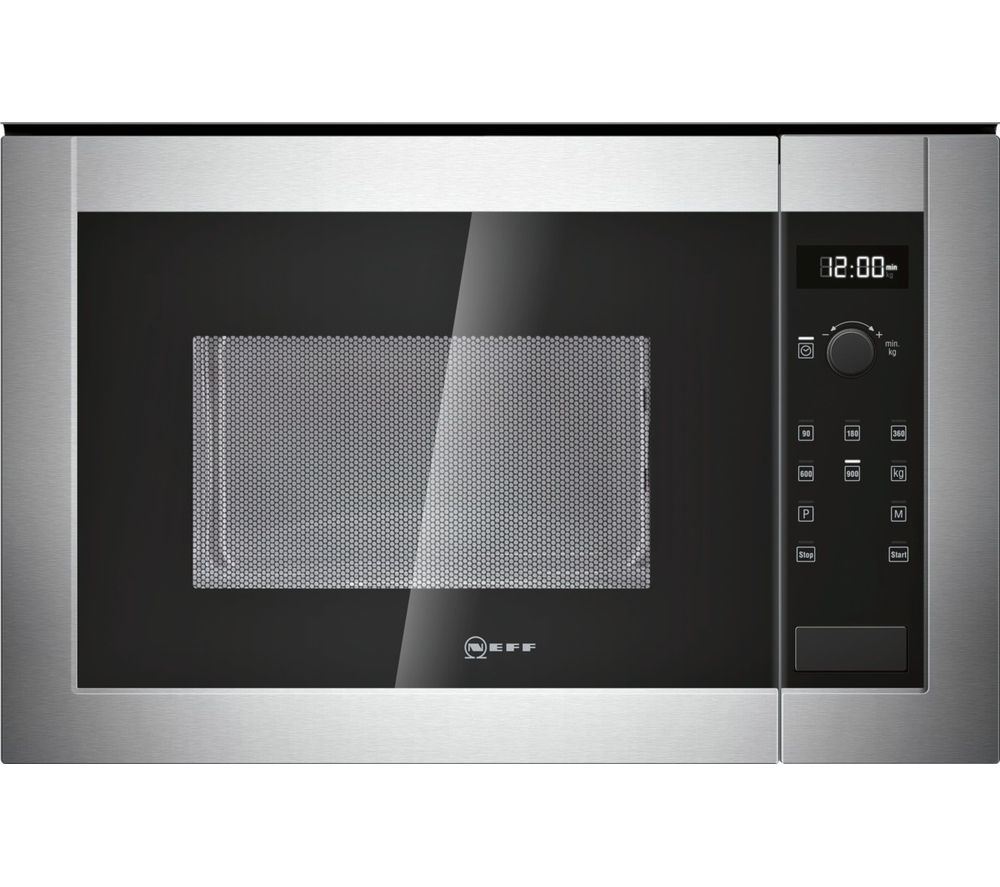 Image of NEFF H12WE60N0G Built-in Solo Microwave - Stainless Steel, Stainless Steel