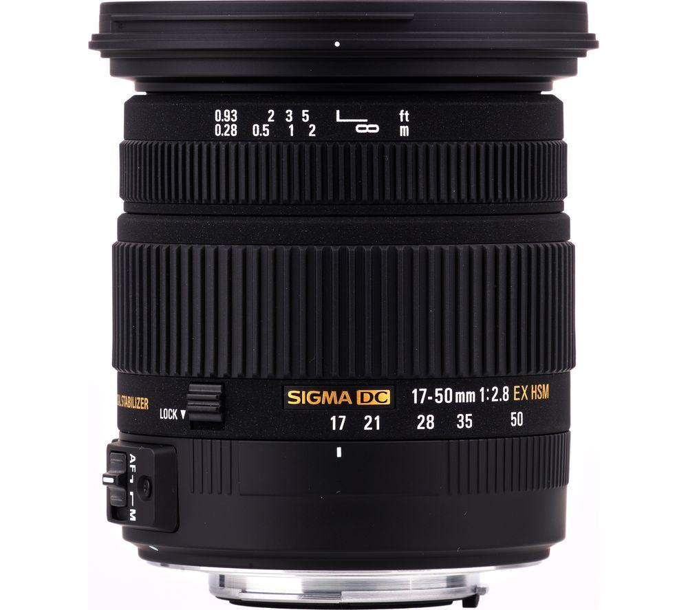 SIGMA 17-50 mm f/2.8 EX DC HSM Standard Zoom Lens - for Nikon