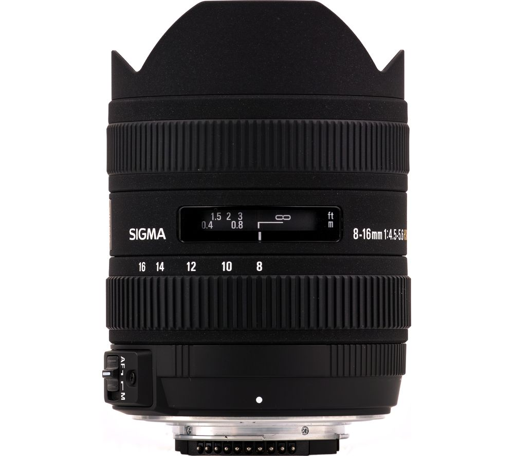 SIGMA 8-16 mm f/4.5-5.6 CD HSM Wide-angle Zoom Lens - for Nikon