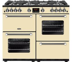 BELLING Kensington 100G Gas Range Cooker - Cream & Chrome