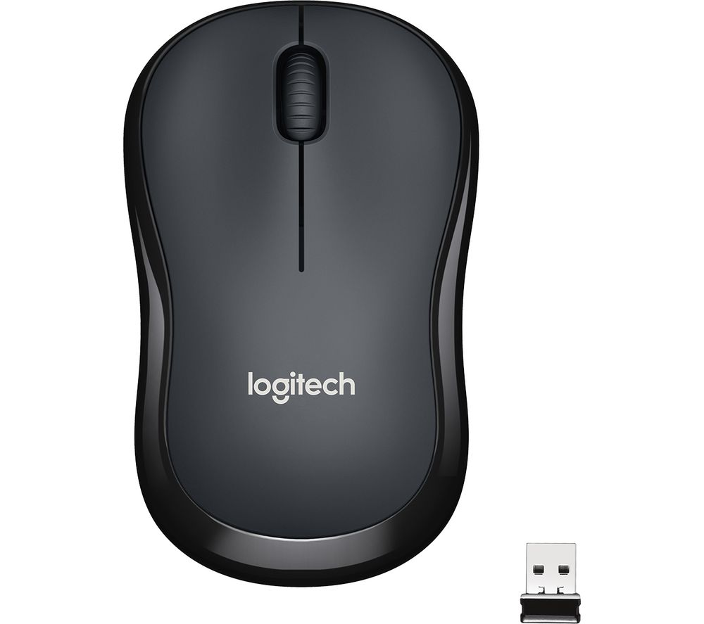 LOGITECH M220 Silent Wireless Optical Mouse - Charcoal