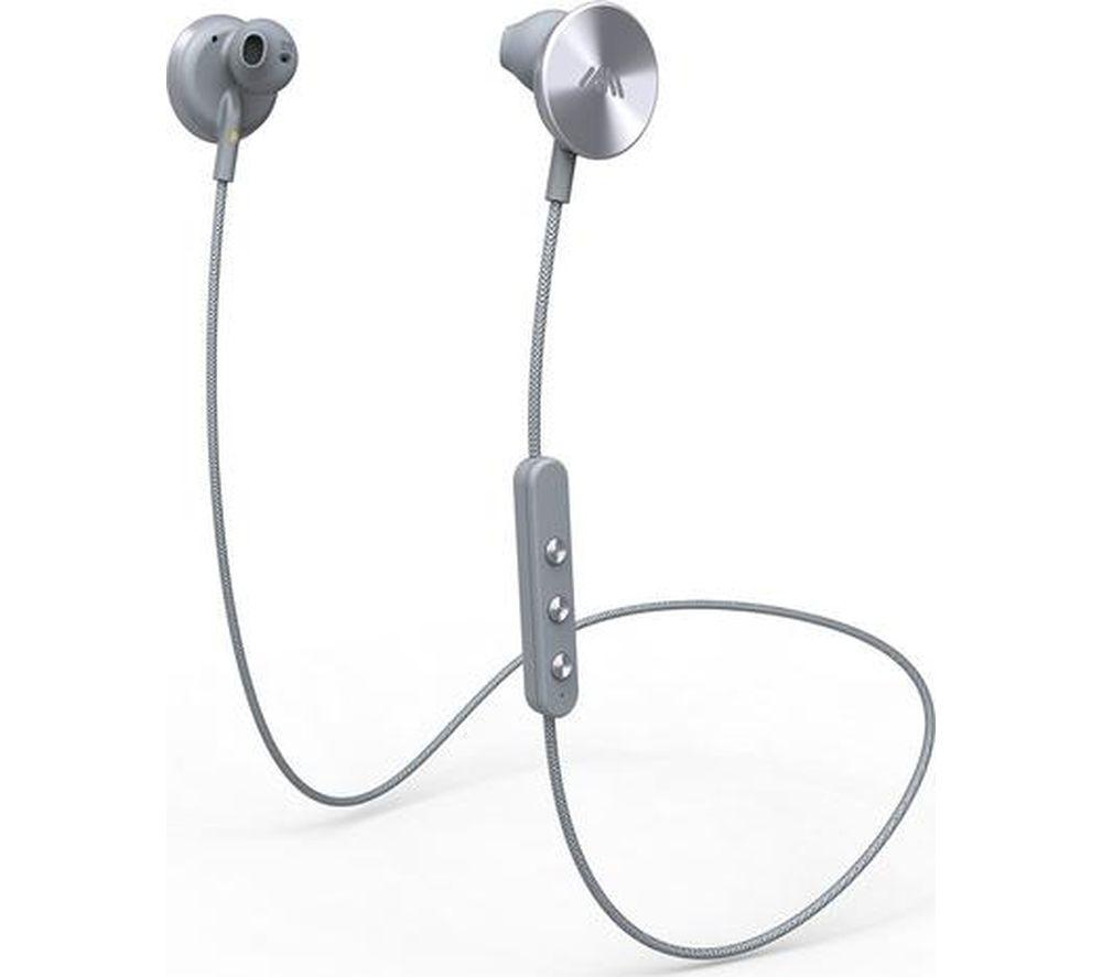 IAM+ Buttons Wireless Bluetooth Headphones - Grey