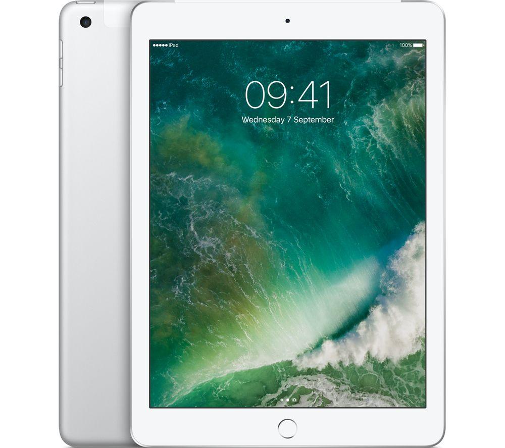 """APPLE 9.7"""" iPad - 128 GB, Silver + MD836B/B USB Power Adapter"""