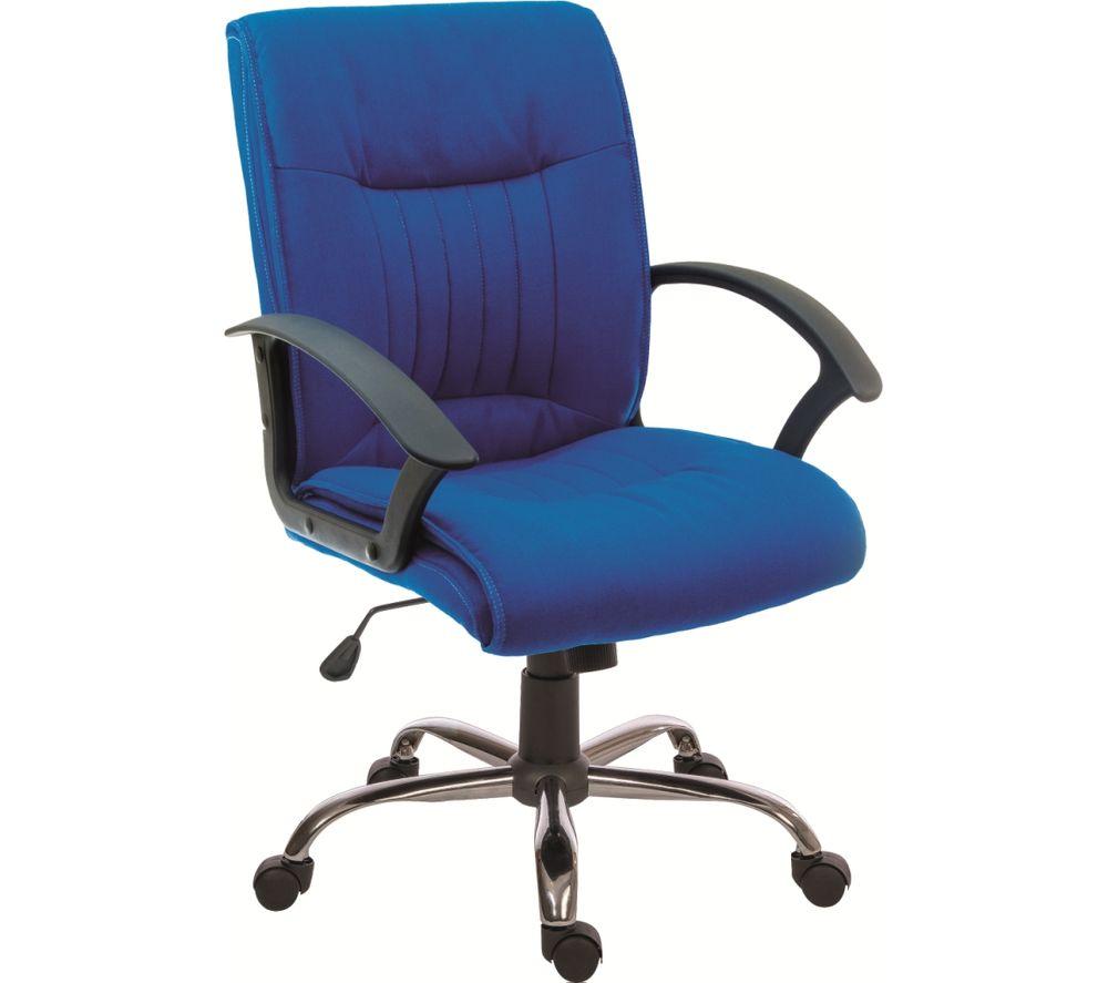 TEKNIK Milan Fabric Reclining Executive Chair - Blue