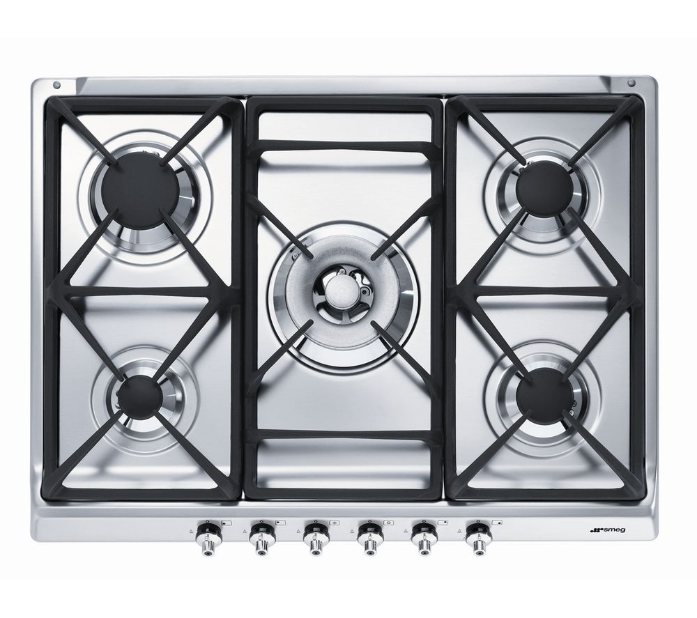 SMEG  SE70SGH5 Gas Hob  Stainless Steel Stainless Steel