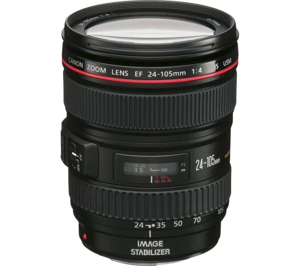 canon ef 24 105 mm f 4l usm is standard zoom lens deals pc world. Black Bedroom Furniture Sets. Home Design Ideas