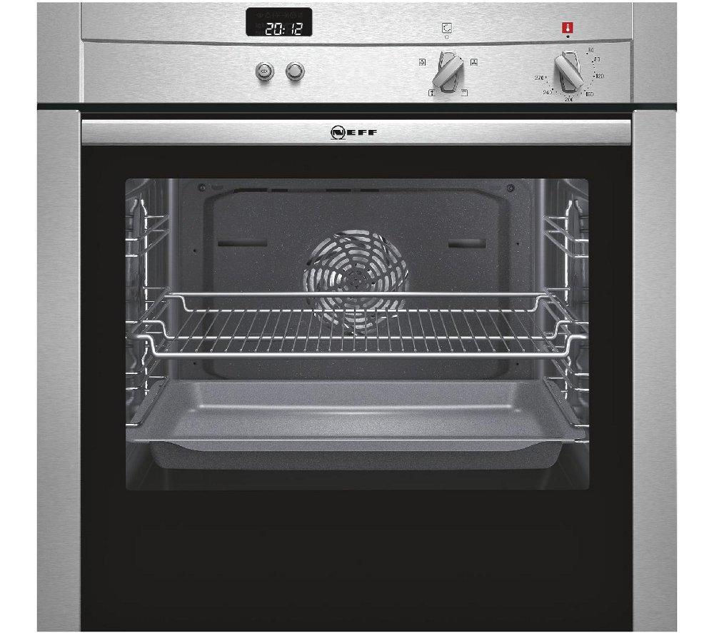 neff b44s32n3gb slide hide electric oven stainless steel stainless steel. Black Bedroom Furniture Sets. Home Design Ideas