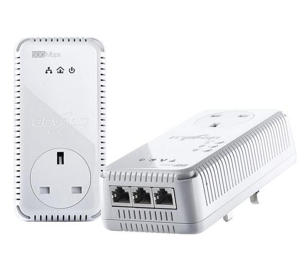 devolo dlan 500 av 500 mbps wireless powerline adapter kit deals pc world. Black Bedroom Furniture Sets. Home Design Ideas