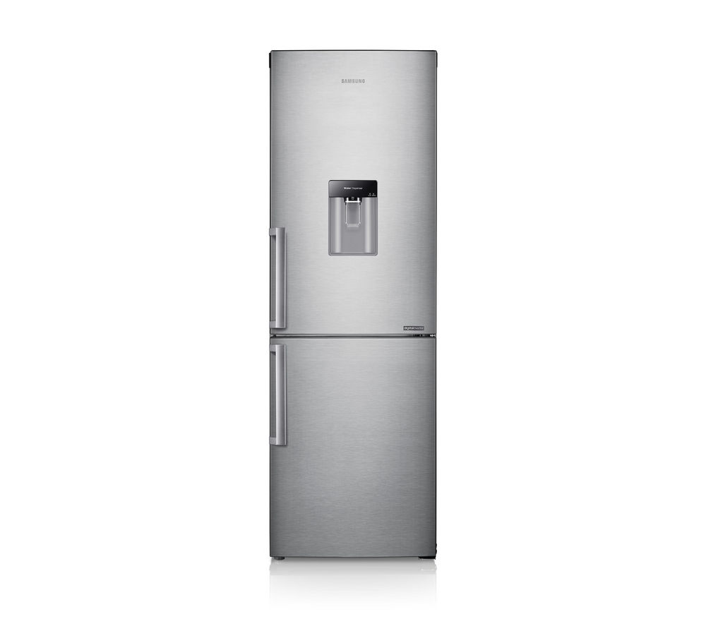 SAMSUNG RB29FWJNDSA 60/40 Fridge Freezer - Silver + ecobubble WF80F5E2W4W Washing Machine - White