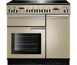 RANGEMASTER Professional+ 90 Electric Induction Range Cooker - Cream & Chrome