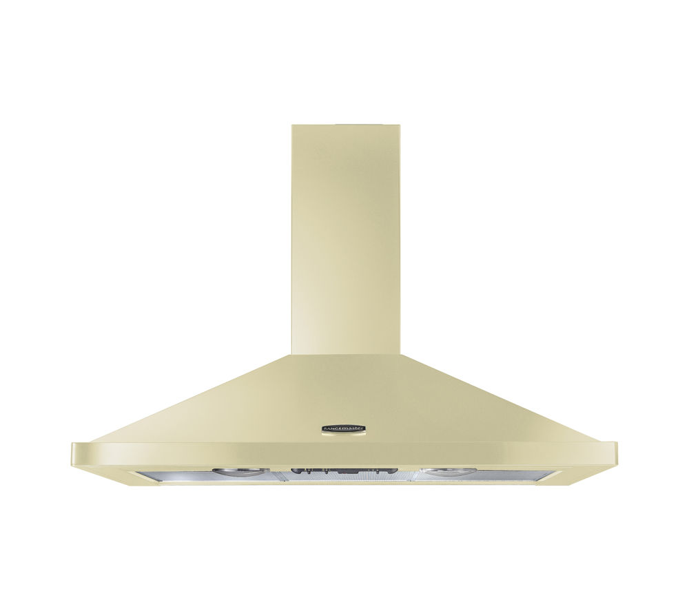 RANGEMASTER LEIHDC90CR/C Chimney Cooker Hood - Cream & Chrome