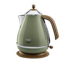 DELONGHI Icona Vintage KBOV3001GR Jug Kettle - Olive Green