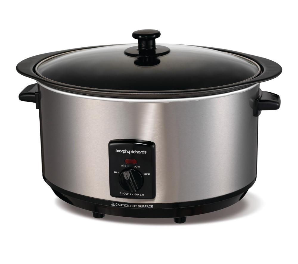MORPHY RICHARDS  48705 Sear and Stew Slow Cooker  Stainless Steel Stainless Steel