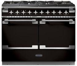 RANGEMASTER Elise SE 110 Dual Fuel Range Cooker - Black & Chrome