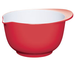 COLOURWORKS 22 cm Mixing Bowl - Red & White