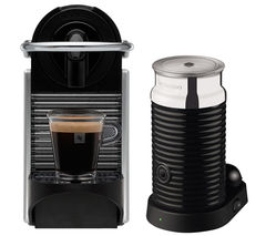 NESPRESSO by Magimix Pixie 11323 Coffee Machine with Aeroccino - Aluminium