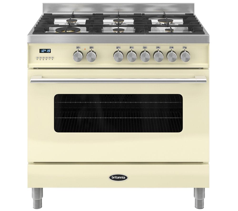 BRITANNIA Delphi 90 RC9SGDERCR Dual Fuel Range Cooker - Cream