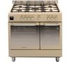 HOOVER HGD9395IV Dual Fuel Range Cooker - Ivory & Stainless Steel