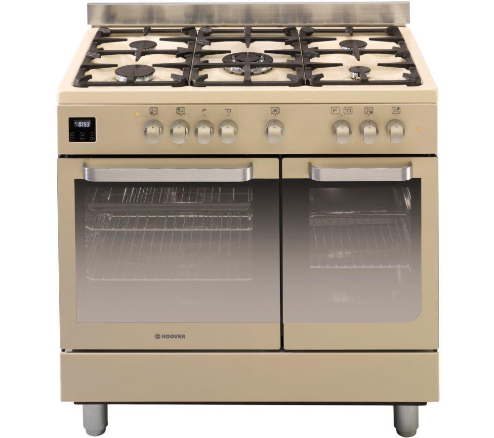 Buy HOOVER HGD9395IV Dual Fuel Range Cooker Ivory