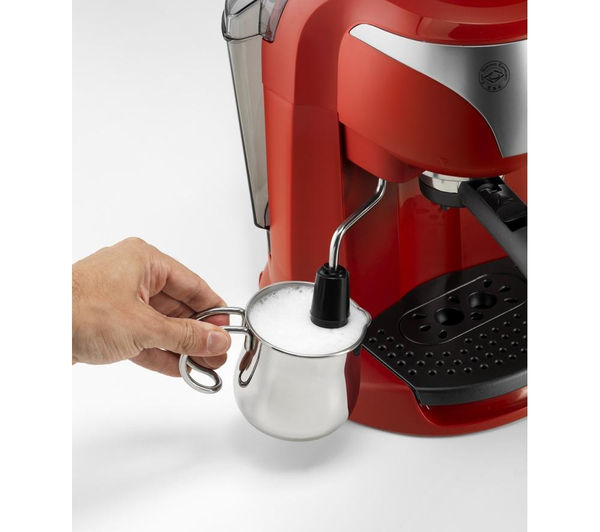 Delonghi Coffee Maker Motivo : DELONGHI Motivo ECC221.W Coffee Machine - Red