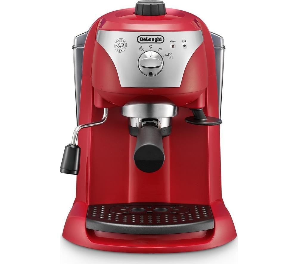 DELONGHI Motivo ECC221.W Coffee Machine - Red