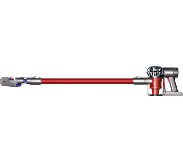 buy dyson v6 total clean cordless vacuum cleaner nickel red free delivery currys. Black Bedroom Furniture Sets. Home Design Ideas