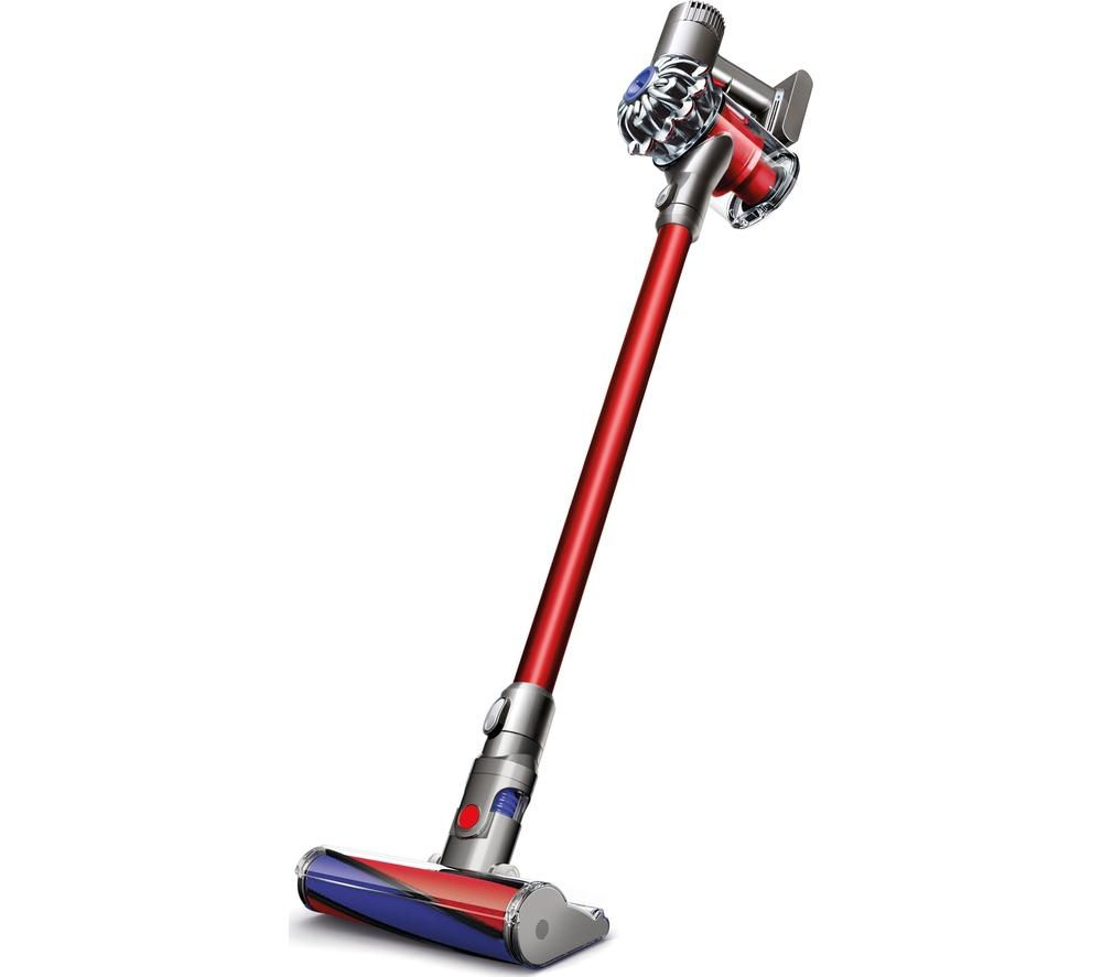 DYSON V6 Total Clean Cordless Vacuum Cleaner - Nickel & Red + Zorb Carpet Cleaner
