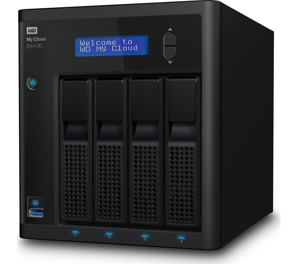 WD MyCloud Expert Series EX4100 NAS Enclosure - 4 Bay, Black