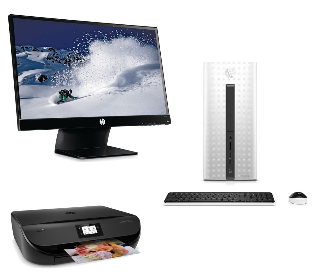 hp pavilion 550 desktop pc 21 5 monitor all in one printer bundle deals pc world. Black Bedroom Furniture Sets. Home Design Ideas